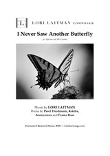 I Never Saw Another Butterfly - for Soprano and Bb Clarinet