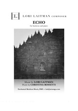 Echo — baritone and piano (priced for 2 copies)