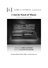 I Am In Need of Music — for soprano and mezzo-soprano with piano — (download is for 3 copies of music)