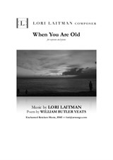 When You Are Old - for soprano and piano (priced for 2 copies)