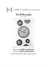 'Tis Philosophy — for bass and piano (priced for two copies)